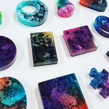 Resin Jewellery Made Using GlassCast 10 Clear Epoxy Casting Resin